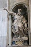 Rzeźby bazylika - Watykan, Włochy Obraz Royalty Free