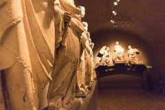 Rzeźby Giovanni Pisano i jego szkołą w Museo dell ` Opera Metropolitana Del Duomo, Siena, Tuscany, Włochy Obrazy Stock