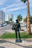 Rzeźby gwiazdy rocka na małej alei w mieście Durres A Zdjęcia Royalty Free
