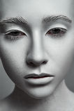 Rzeźby kobieta Moda model z perfect skórą obrazy royalty free
