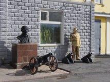Rzeźby Lenin, Stalin, poprzedni polityczni dyktatorzy zdjęcie stock