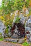 Rzeźby Niedźwiadkowa rodzina Zdjęcie Stock