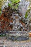Rzeźby Niedźwiadkowa rodzina Fotografia Stock