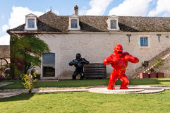 Rzeźby przy Pommard zdjęcie royalty free