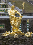 Rzeźby ` Samson drzeje lwa ` s usta ` zbliżenie peterhof Zdjęcie Royalty Free