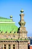 Rzeźby St Petersburg Theatre wymieniający po N komedia P Akimov na Nevsky perspektywie w Petersburg, Rosja Obraz Royalty Free