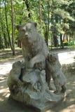 Rzeźby Trzy niedźwiedzie Zdjęcia Stock