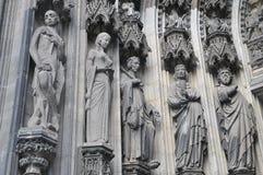 Rzeźby w Kolońskiej katedrze Obraz Stock