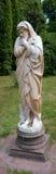 Rzeźby zima w parku i pałac Obraz Royalty Free