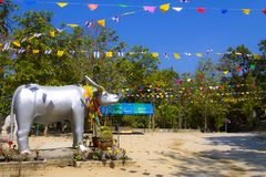 Rzeźby zwierzęcy idylliczny plenerowy w świątyni fotografia stock