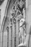 Rzeźba Adam, Rothenburg, Niemcy, Europa obraz royalty free