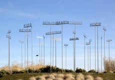 Rzeźba Alessandro Filippini, Charleroi lotnisko, Belgia Zdjęcie Stock