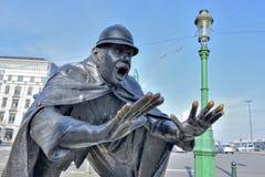 Rzeźba De Vaartkapoen w Bruksela Fotografia Royalty Free