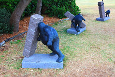 Rzeźba Dennym eksponatem przy Bondi Obrazy Stock