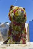 Rzeźba gigantyczny kwiecisty Szczeniak Obrazy Royalty Free