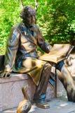 Rzeźba Hans Christian Andersen w central park, Miasto Nowy Jork Obrazy Royalty Free