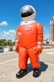 Rzeźba kosmonauta Zdjęcie Royalty Free