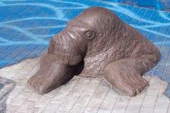 Rzeźba mors Fotografia Royalty Free