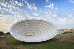Rzeźba morzem - Astronautycznego czasu kontinuum V4 Obraz Stock