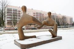 Rzeźba na handlowym temacie Zdjęcia Royalty Free
