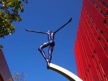 Rzeźba na Pierwszy ulicie, Machester UK Zdjęcie Stock