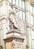 Rzeźba poeta Dante Alighieri w Florenc filozof i Fotografia Royalty Free