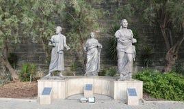Rzeźba przed Bodrum kasztelem Zdjęcia Royalty Free