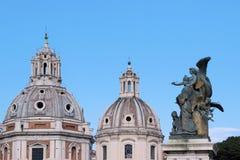 Rzeźba przy piazza Venezia w Rome Zdjęcie Stock