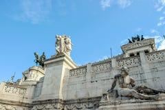 Rzeźba przy piazza Venezia w Rome Obrazy Stock