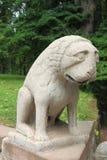 Rzeźba smutny lew Obraz Royalty Free
