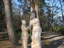 Rzeźbi w parku Zdjęcie Royalty Free