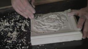 Rzeźbiarz Tworzy sztuka wystrój 4k zbiory wideo