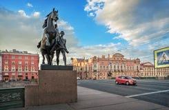 Rzeźby Klodt ` s konie Zdjęcie Stock