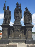 Rzeźby na Charles moscie, Praga Zdjęcie Stock
