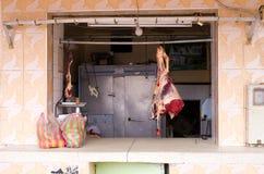 Rzeźnia w Maroko Obrazy Royalty Free