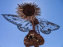 Rzeźby sztuka, w centrum Reno, Nevada Obraz Royalty Free