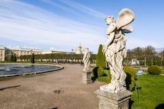 Rzeźby w niskim parku Peterhof peterhof Rosja Zdjęcie Stock