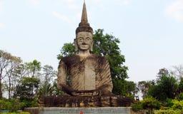 Rzeźby w Nong Khai Buddha parku w Tajlandia Zdjęcie Royalty Free