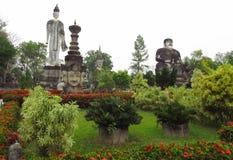 Rzeźby w Nong Khai Buddha parku w Tajlandia Obraz Royalty Free