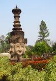 Rzeźby w Nong Khai Buddha parku w Tajlandia Zdjęcia Royalty Free
