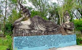 Rzeźby w Nong Khai Buddha parku w Tajlandia Obrazy Stock