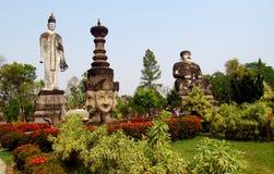 Rzeźby w Nong Khai Buddha parku w Tajlandia Obrazy Royalty Free