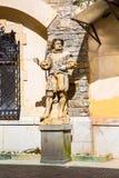 Rzeźby w ogródzie Peles kasztel, Rumunia Zdjęcie Royalty Free