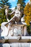 Rzeźby w ogródzie Peles kasztel, Rumunia Fotografia Royalty Free