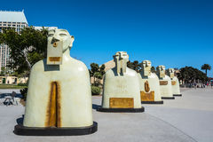 Rzeźby w San Diego, Kalifornia Zdjęcia Royalty Free