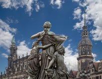 Rzeźba na, katedra Święta trójca lub - Drezdeńska, Sachsen, Niemcy Zdjęcia Stock
