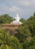 Rzeźba posadzony Buddha w monasterze Medamaluwa Mihintale, Sri Lanka Zdjęcia Royalty Free