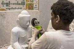 Rzeźbiarz w Myanmar Obraz Royalty Free