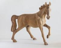 Rzeźbiący drewniany koń Obrazy Royalty Free