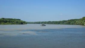 Rzeczna łódź Obraz Royalty Free